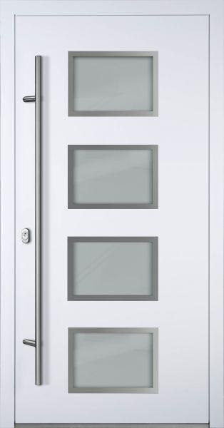 """Aluminium Haustür """"WILHELMINE"""" 90 mm (Mit Edelstahlapplikationen) RC2"""