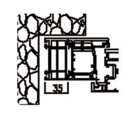 Rahmenverbreiterung für PVC- und ALU-PVC-Türen der Stärke 60 mm (35 x 60 mm) (Flexible Türmontage)