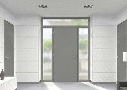 Aluminium Oberlicht für Türen der Stärke 60 mm