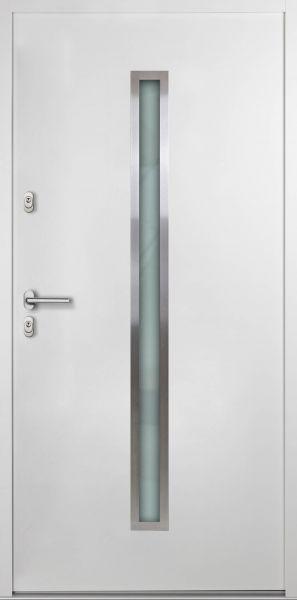 """Aluminium-Stahl Nebeneingangstür """"SAMIA"""" Weiß 56mm"""