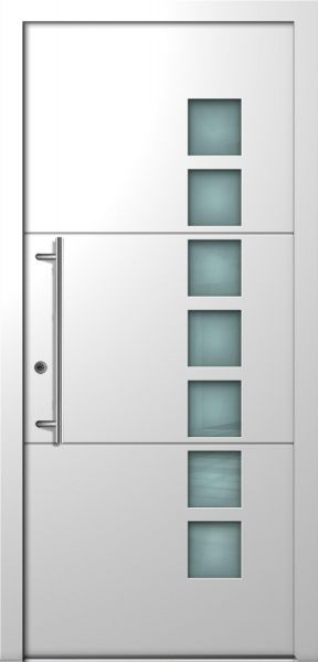 "Aluminium Haustür ""JOYCE"" 78mm flügelüberdeckend RC2 (Standardmaß)"