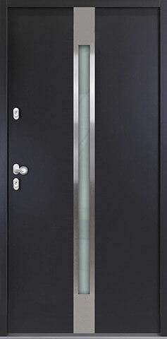"""Aluminium-Stahl Nebeneingangstür """"PALITA"""" 56mm"""