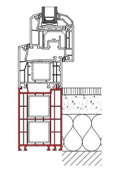Rahmenverbreiterung für ALU-Türen der Stärke 68mm (Flexible Türmontage)