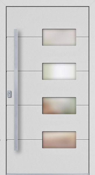 """Aluminium Haustür """"JULIA"""" 77mm flügelüberdeckend RC2"""